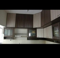 Sandel And Brown Plywood Kitchen Wall Unit