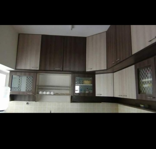 Sandel And Brown Plywood Kitchen Wall Unit Rs 800 Square Feet Sai Saathvik Interiors Id 20230499133