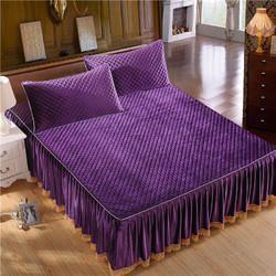 Embroidered Velvet Bed Cover