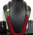 Multi Color Beaded Necklace Set