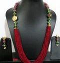 Multi Color Beaded Necklace Set