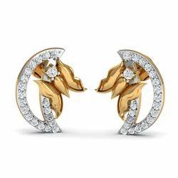 14k Hallmark Designer Diamond Earring