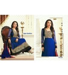 Satin Embroidered Bollywood Suit