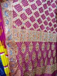 Saree Gadhwal Silk Handloom Garchola Style