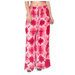 Red And White Ladies Tie Dye Palazzo