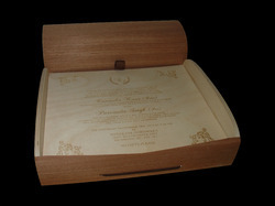 Wedding Box with Cards in Wood