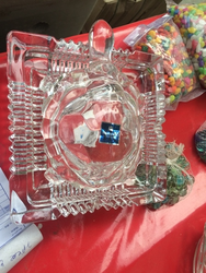 Transparent Polished Glass Crafts, Size: Large