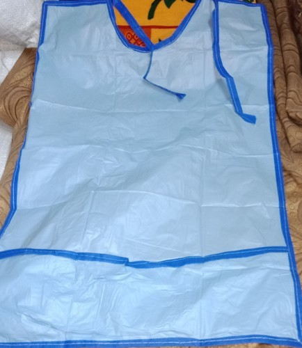 Blue PVC Drape Apron, Hospital And Laboratory