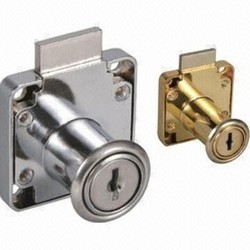 Europa Drawer Lock, F 155, Finish Types: IV