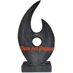 Black Colour Marble Abstract Sculpture