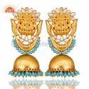 Silver Traditional Kundan Earrings Jewelry