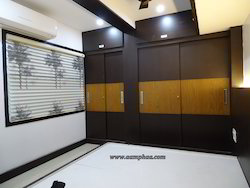 Sliding Bedroom Wardrobe Designing Service