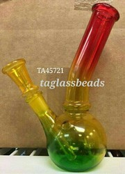 Glass Honeycomb Rasta Colored Bong