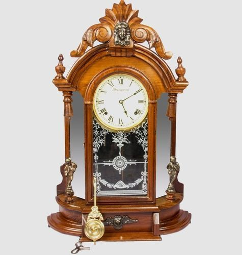 Antique Vintage 1850s Old Style Pendulum Wall Clock Hb 044 Manufacturer From Mumbai