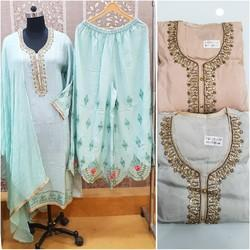 Palazo Suits With Dupatta
