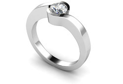 Sterling Silver Ring 925 With 14k White Gold Plated