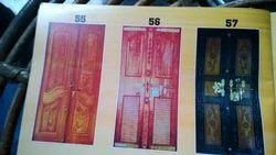 Teak Wood Double Carvin Door