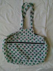 Cotton Fabric Multicolor Cotton Ladies Hand Bag