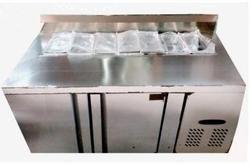 Rectangular Black Pizza Work Bench, For Restaurant Equipment, Size: 1500 X 750 X 800