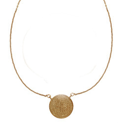 SHNL0028 Silver Coin Ladies Silver Necklace