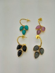 Antique Color Stone Earring