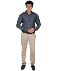 Black Plain Party Wear Mens Shirt