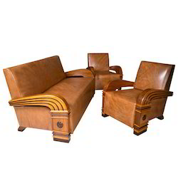 Art Deco Suite Wood Sofa