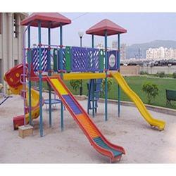 Triple Playground Slide