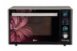 LG 32 Litres Charcoal Convection Microwave Oven Black