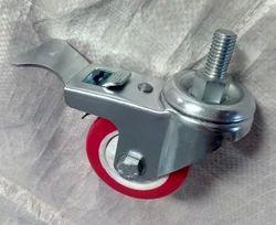 Zinc Platted M12 Casters Swivel Break with PU Wheel