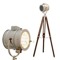 Vintage Chrome Finish Spot Search Light- Floor Light Lamp Tri