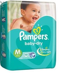 Pampers Baby Dry Diapers Medium 10 Pieces