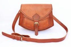 Plain Shoulder Handbag Ladies Leather Bag
