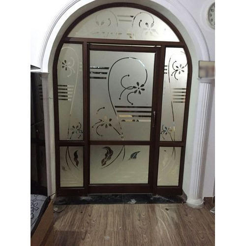 Aluminium Modular Kitchen At Rs 1100 Square Feet: Arched Glass Door At Rs 400 /square Feet