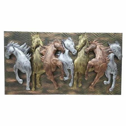 Running Seven Horse Wall Art, Deewar Kala, दिवार ...