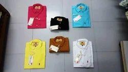 Male Casual Wear 100% Cotton Plain Shirts