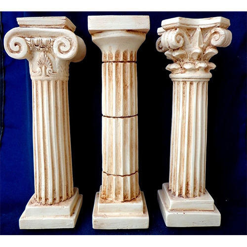 Indian Stone Pillar - White Marble Stone Pillars Manufacturer from