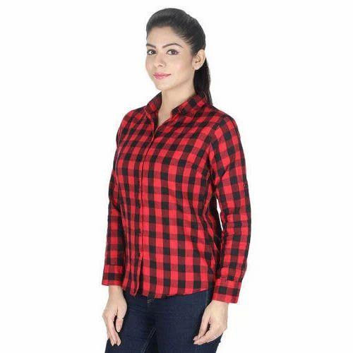 f8c4815cc5 Ladies Red Check Shirt