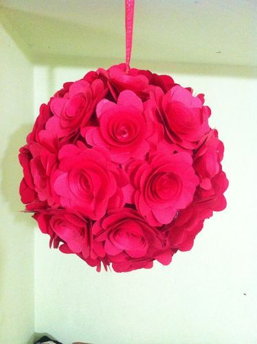 Red roses paper flowers pomander at rs 300 pieces paper flower red roses paper flowers pomander mightylinksfo
