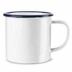 Iron White Enamel Mug