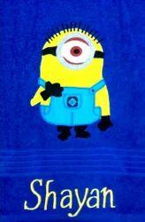 Multicolor Cotton Personalized Towel, Size: 24x48