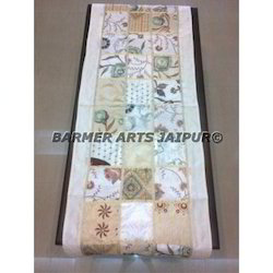 Table Runner Silk embroidery