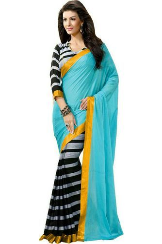 8705279b7fbd6 Beautiful Sky Blue Bhagalpuri Silk Saree - Krazzy2buy