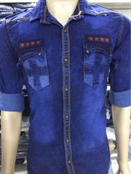 Stretchable Kv Denim Shirt