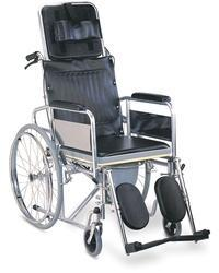 Reclining Commode Wheel Chair For Patients