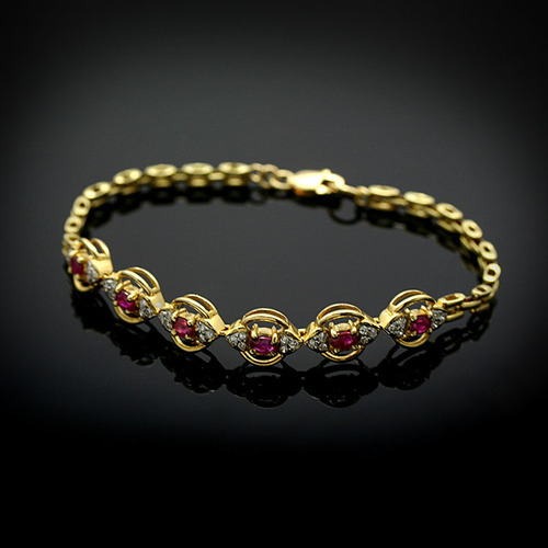 proddetail yellow rings diamond bangles design gold ruby natural bracelet in