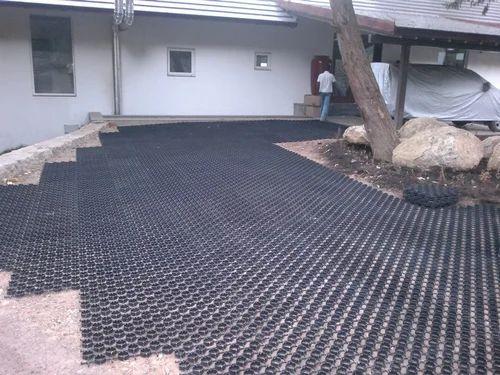 Black Plastic HDPE Grass Pavers