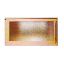 Frame and Panel Frosted Wooden Cabinet