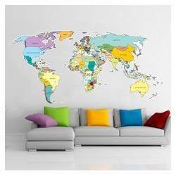World Map Graphics Vinyl Printing Service