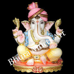 Painted Lord Ganesha Statue